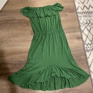 Green Strapless FE Dress